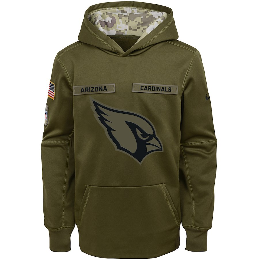 Arizona Cardinals Nike Youth Salute to Service Pullover Performance Hoodie Green