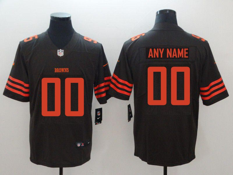 Custom Men Cleveland Browns brown Nike Vapor Untouchable Limited Playe NFL Jerseys
