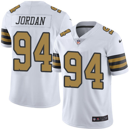 Custom Men New Orleans Saints 94 Cam Jordan Navy White Nike Color Rush Playe NFL Jerseys