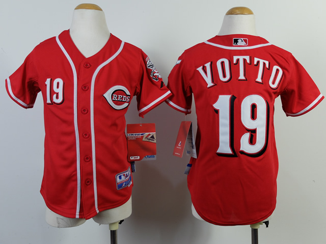 MLB Cincinnati Reds Youth 19 Votto red jerseys