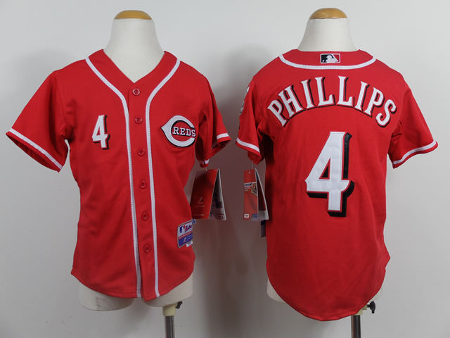 MLB Cincinnati Reds Youth 4 Phillips red jerseys