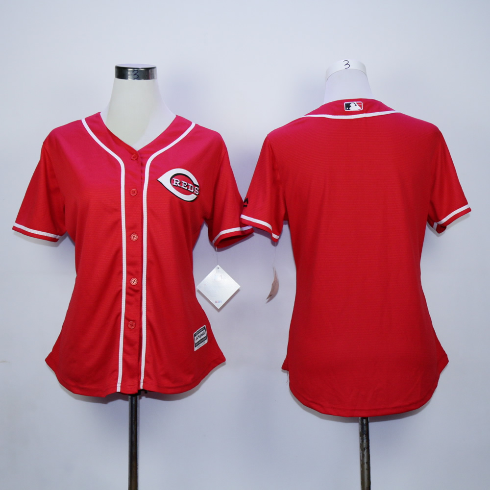 MLB Cincinnati Reds women blank red jerseys