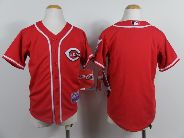 MLB Cincinnati Reds youth Blank red jerseys