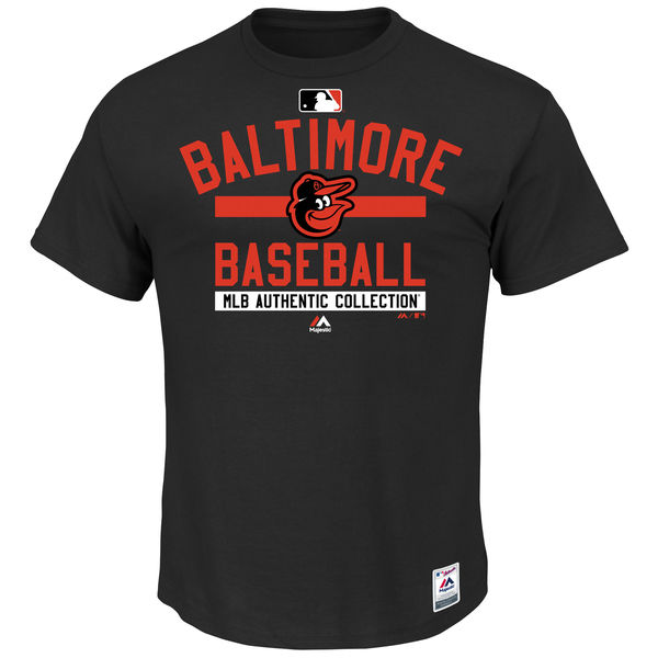 MLB Men Baltimore Orioles Majestic Big Tall Authentic Collection Team Property TShirt Black