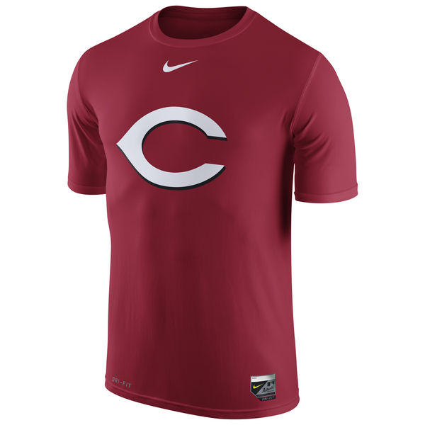 MLB Men Cincinnati Reds Nike Authentic Collection Legend Logo 1.5 Performance TShirt Red
