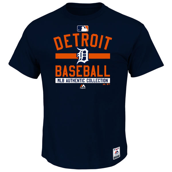 MLB Men Detroit Tigers Majestic Big Tall Authentic Collection Team Property TShirt Navy