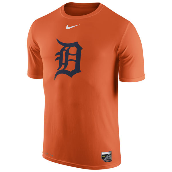 MLB Men Detroit Tigers Nike Authentic Collection Legend Logo 1.5 Performance TShirt Orange