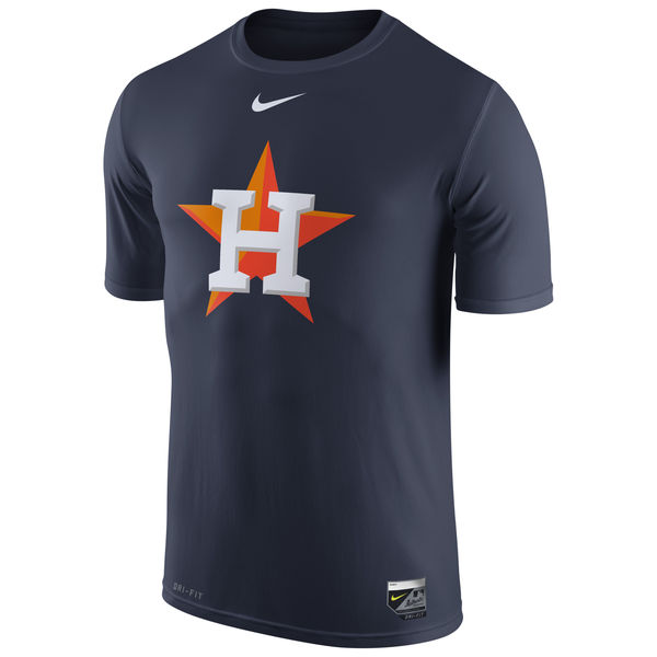 MLB Men Houston Astros Nike Authentic Collection Legend Logo 1.5 Performance TShirt Navy