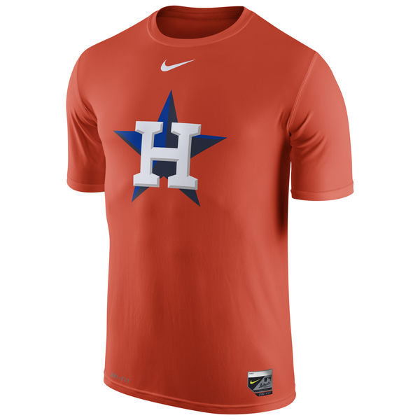 MLB Men Houston Astros Nike Authentic Collection Legend Logo 1.5 Performance TShirt Orange