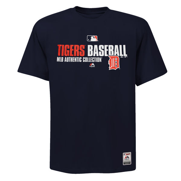 MLB Men Majestic Detroit Tigers Team Favorite Big Tall TShirt Navy Blue