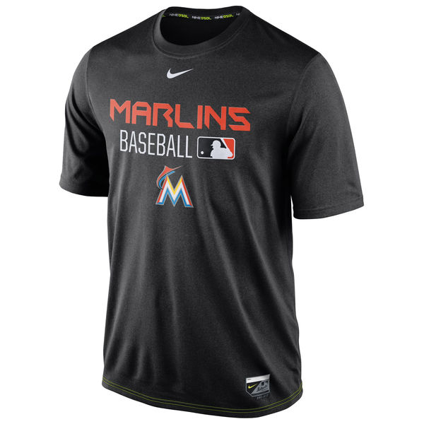 MLB Men Miami Marlins Nike Legend Team Issue Performance TShirt Black