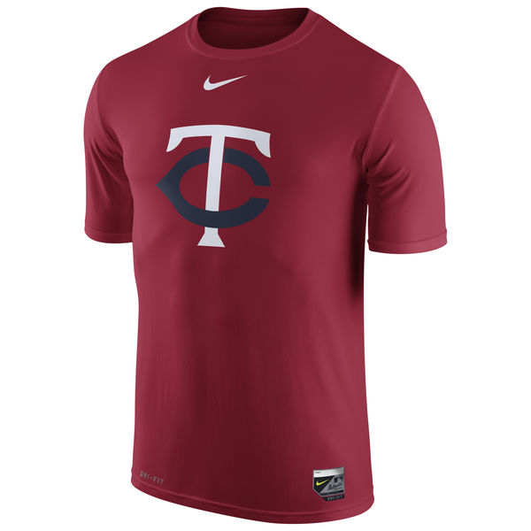 MLB Men Minnesota Twins Nike Authentic Collection Legend Logo 1.5 Performance TShirt Red