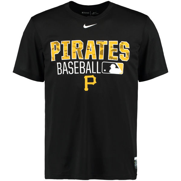 MLB Men Pittsburgh Pirates Nike 2016 AC Legend Team Issue 1.6 TShirt Black