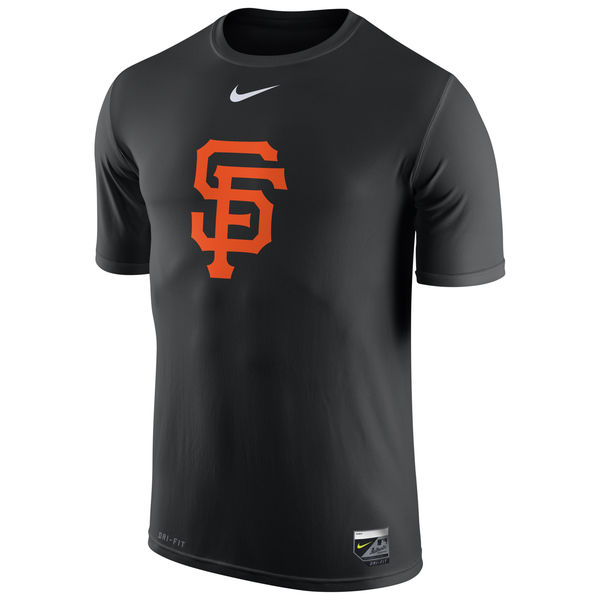 MLB Men San Francisco Giants Nike Authentic Collection Legend Logo 1.5 Performance TShirt Black