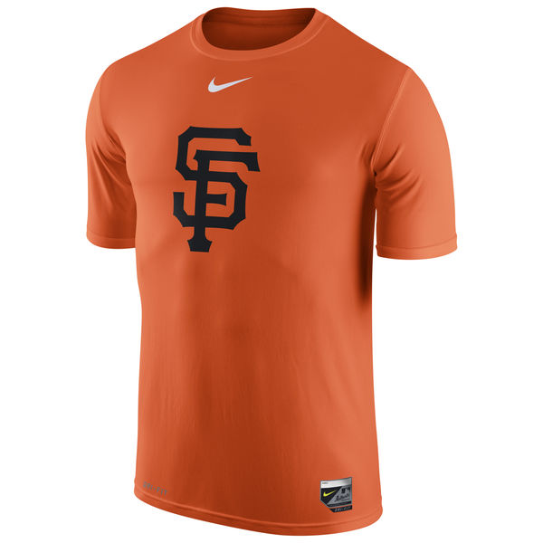 MLB Men San Francisco Giants Nike Authentic Collection Legend Logo 1.5 Performance TShirt Orange