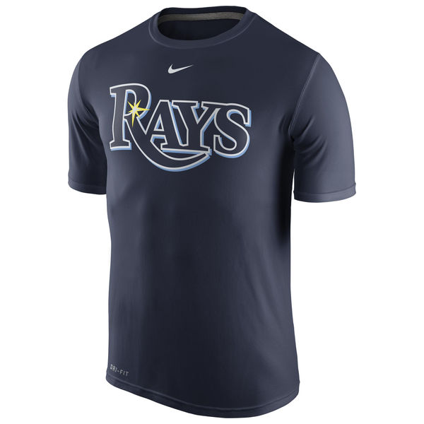 MLB Men Tampa Bay Rays Nike Legend Wordmark 1.5 Performance TShirt Navy