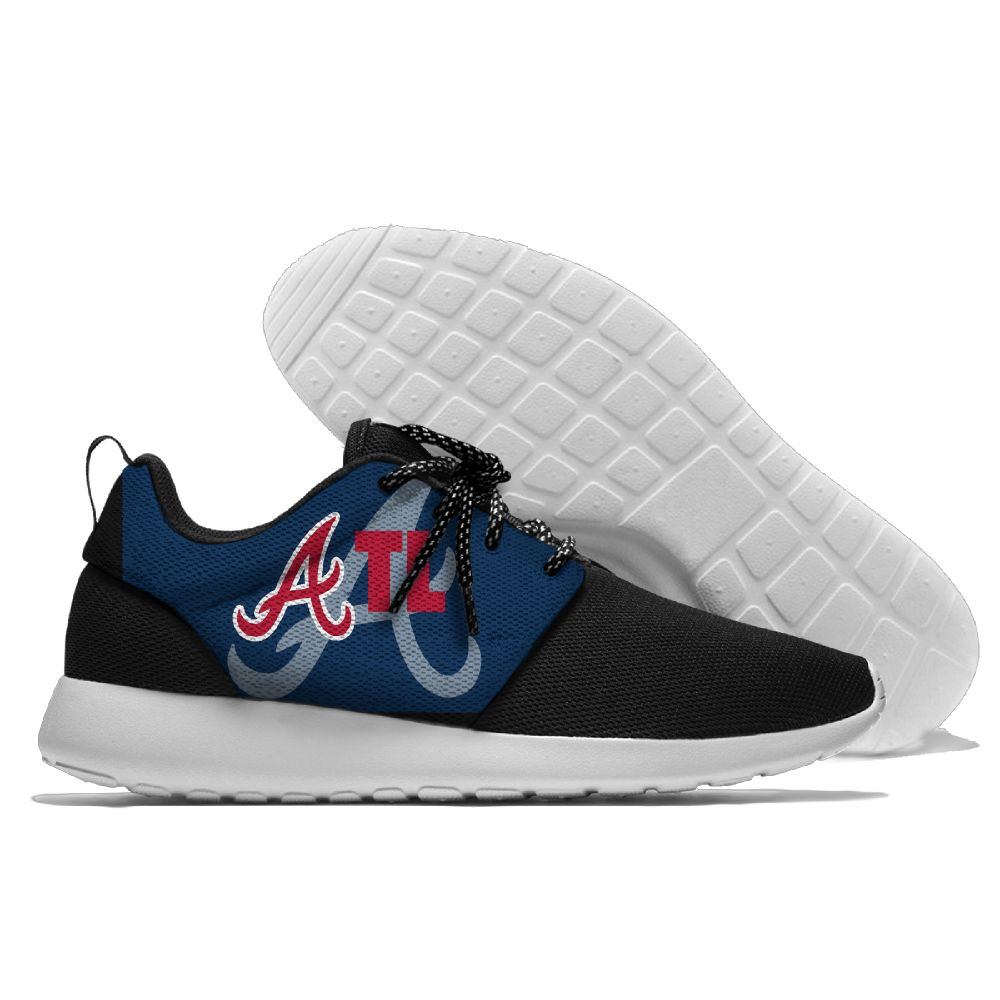Men Atlanta Braves Roshe style Lightweight Running shoes 3