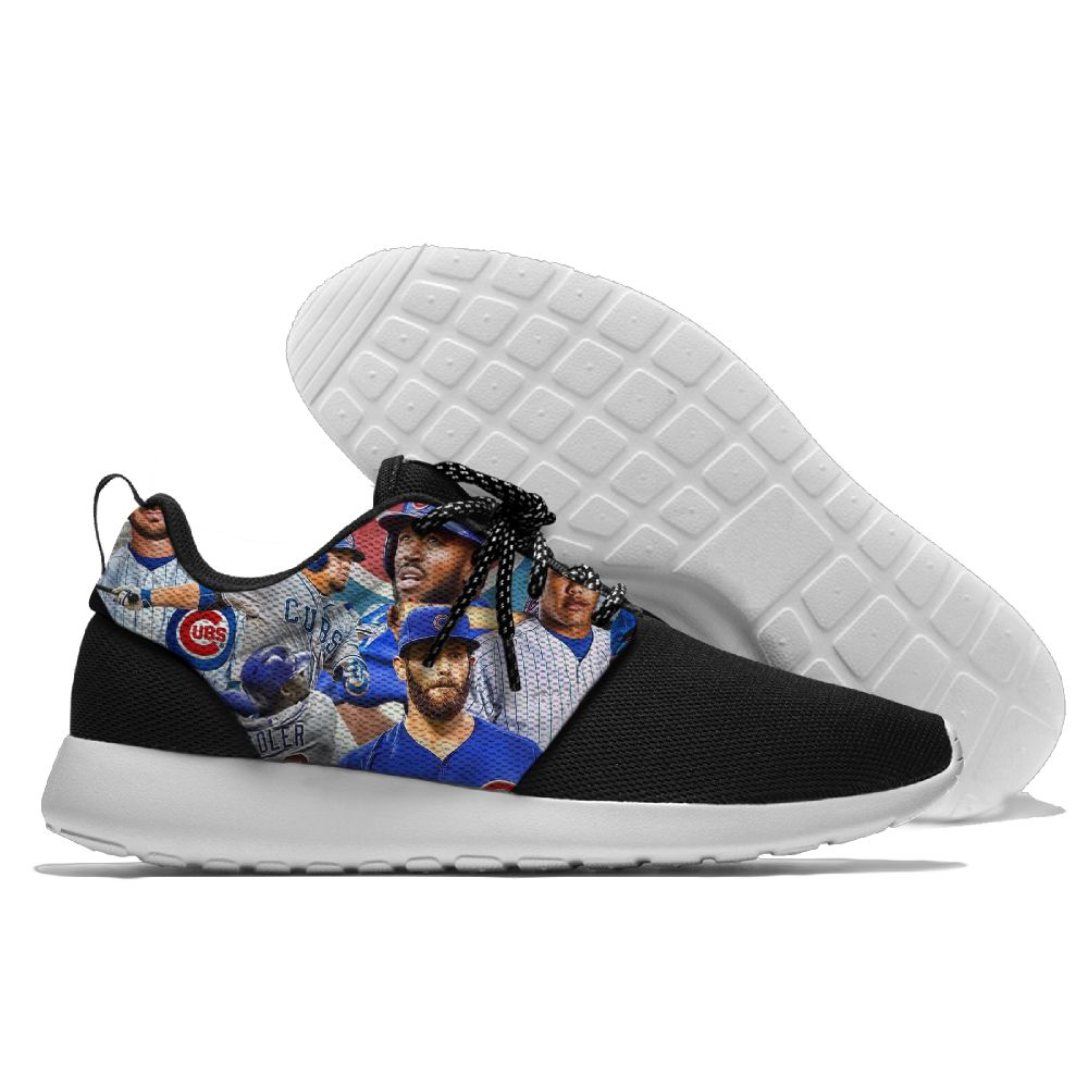 Men Chicago Cubs Roshe style Lightweight Running shoes 6
