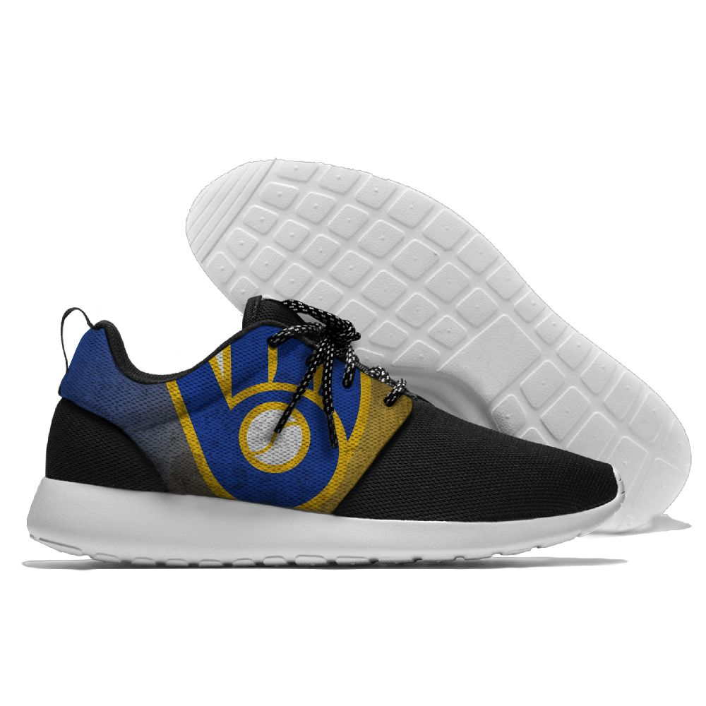 Men Milwaukee Brewers Roshe style Lightweight Running shoes 2