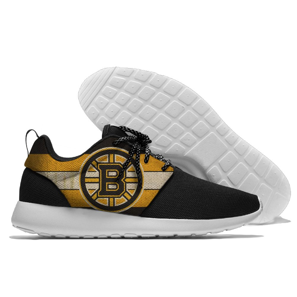Men NHL Boston Bruins Roshe style Lightweight Running shoes 1
