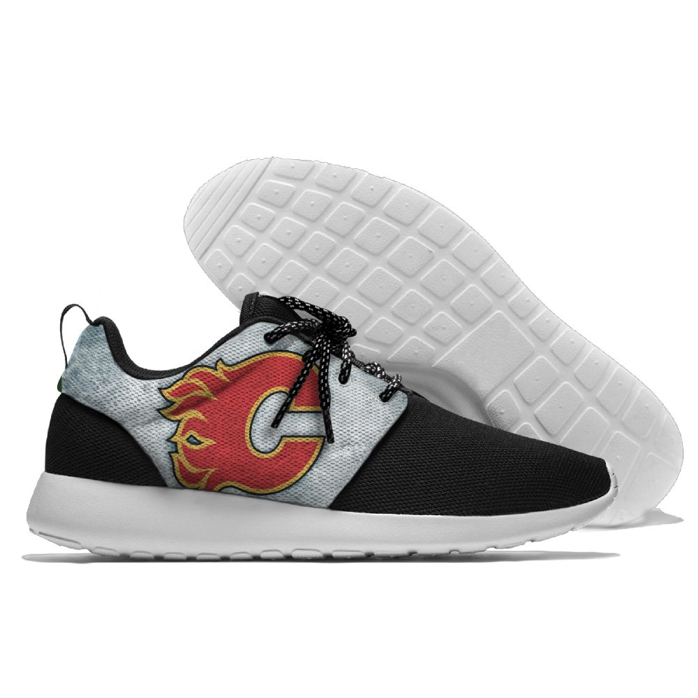 Men NHL Calgary Flames Roshe style Lightweight Running shoes 1