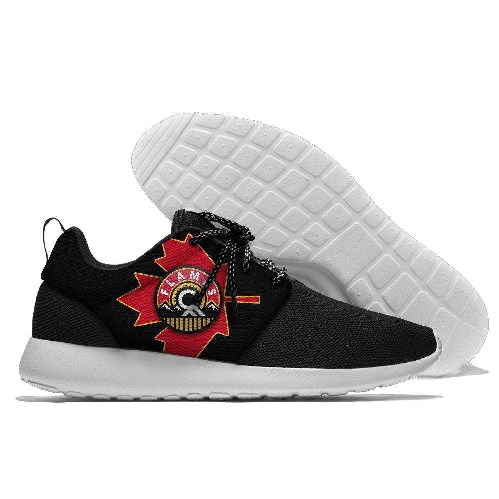 Men NHL Calgary Flames Roshe style Lightweight Running shoes 4