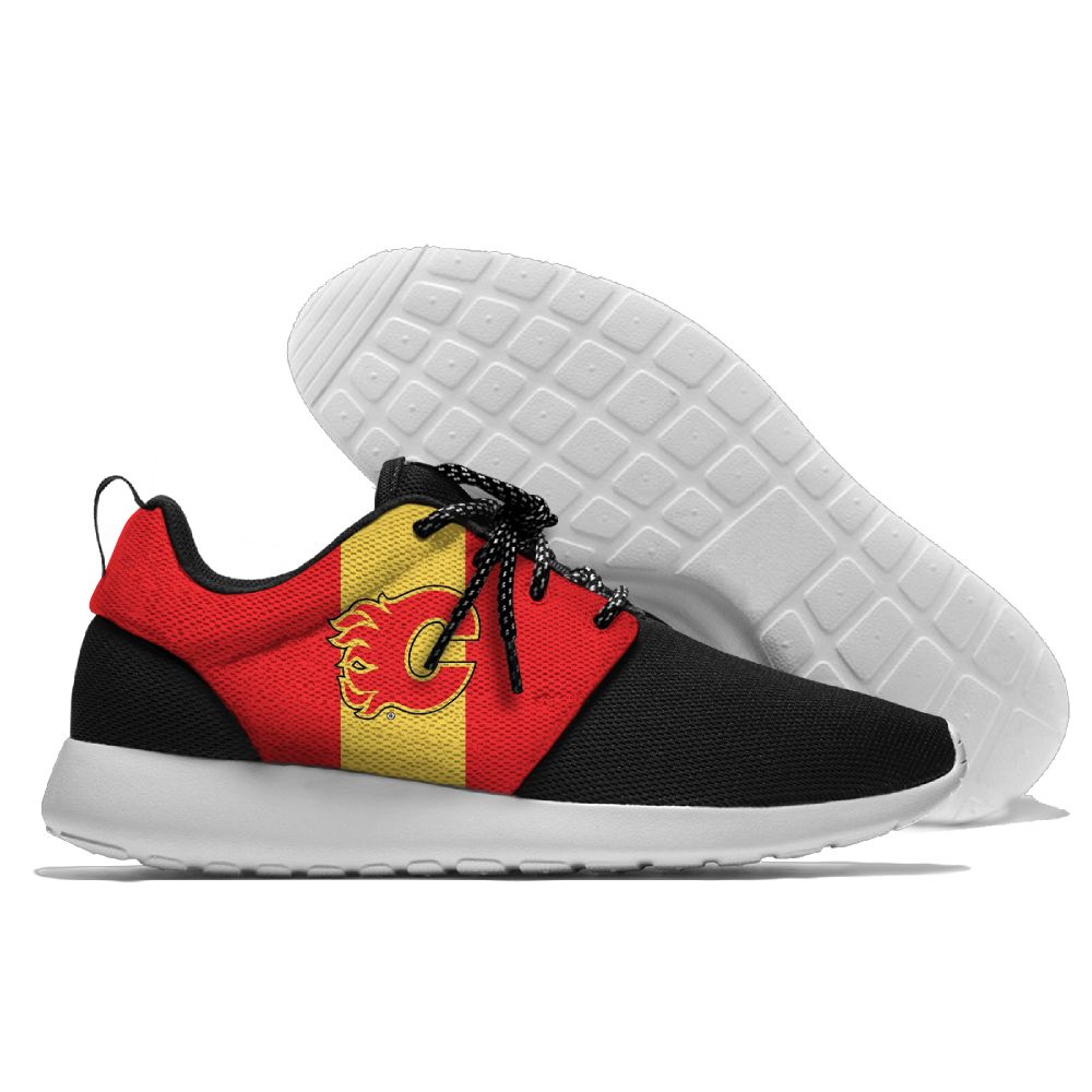 Men NHL Calgary Flames Roshe style Lightweight Running shoes 5
