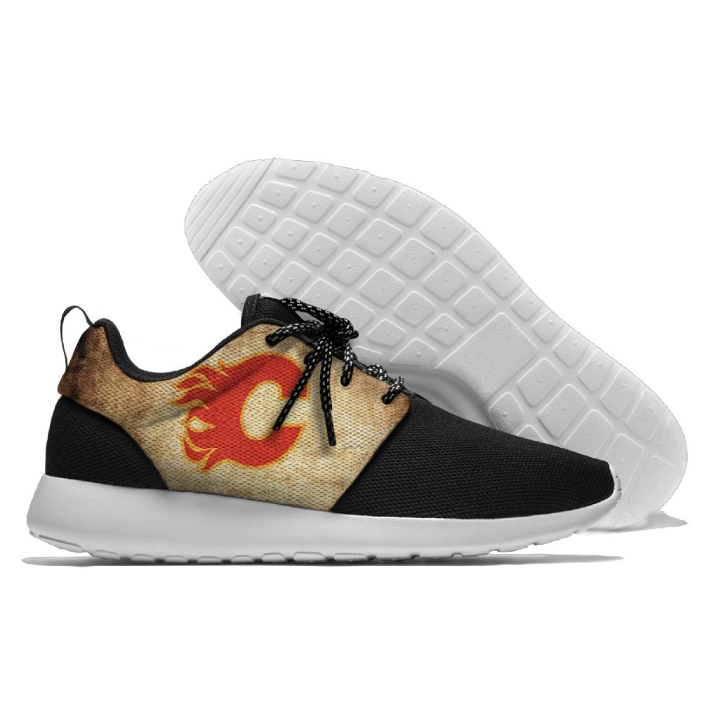 Men NHL Calgary Flames Roshe style Lightweight Running shoes 6