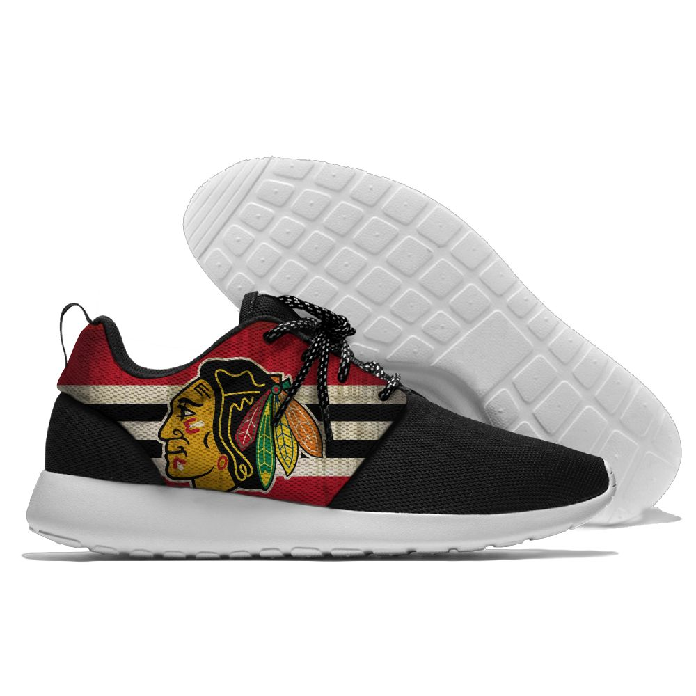 Men NHL Chicago Blackhawks Roshe style Lightweight Running shoes 4