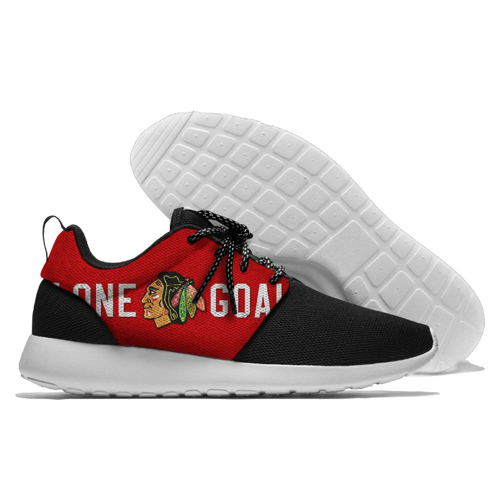 Men NHL Chicago Blackhawks Roshe style Lightweight Running shoes 7