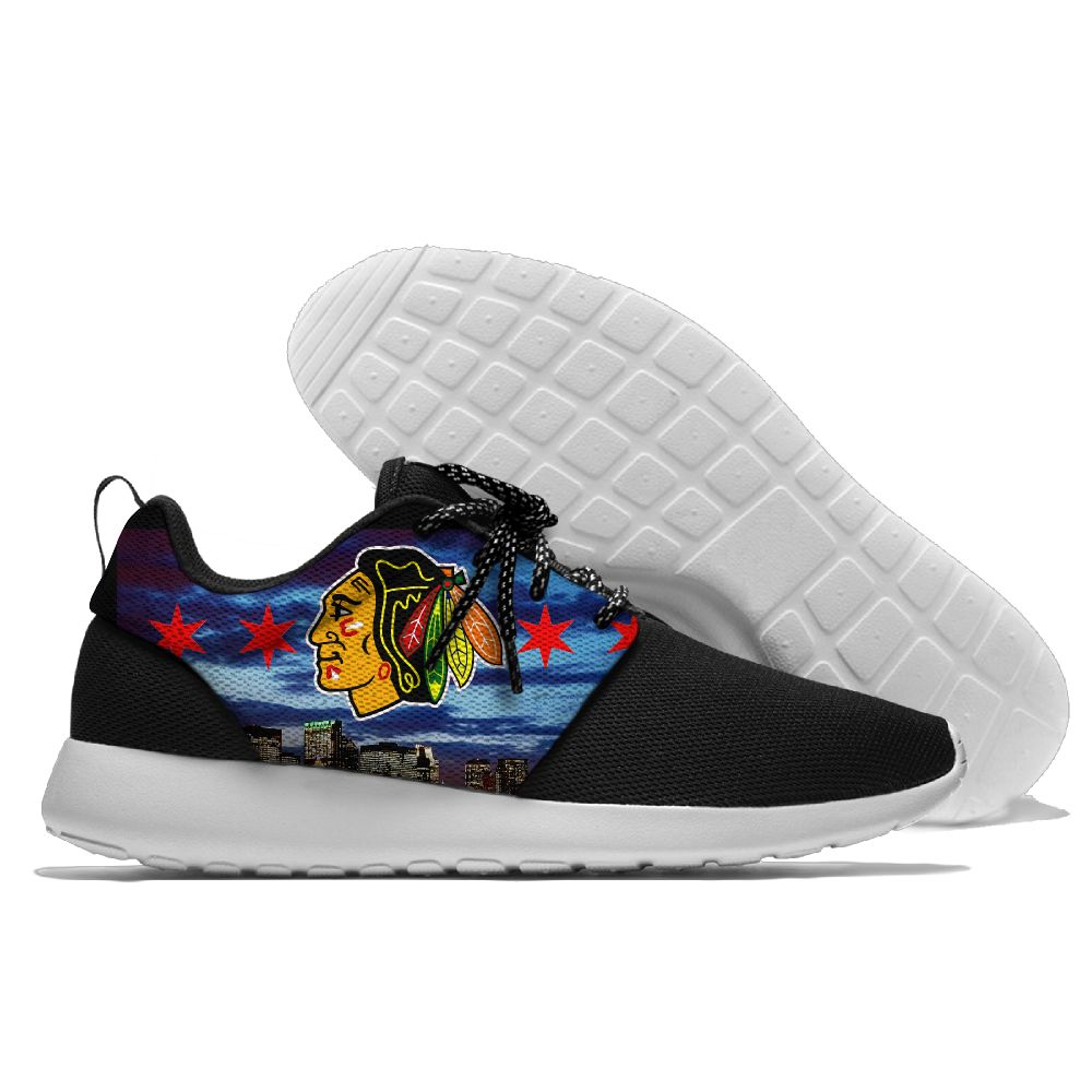Men NHL Chicago Blackhawks Roshe style Lightweight Running shoes 9