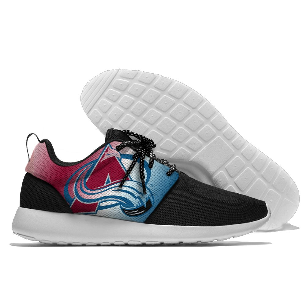 Men NHL Colorado Avalanche Roshe style Lightweight Running shoes 2