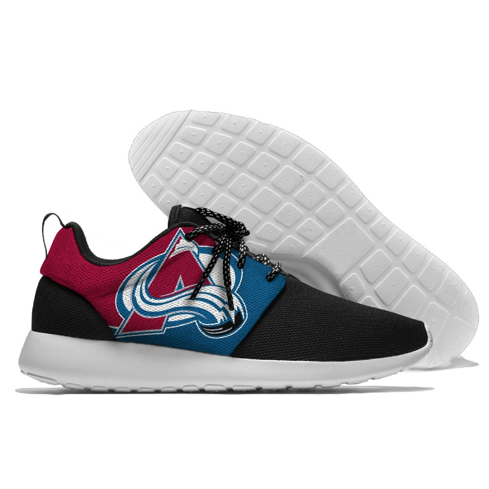 Men NHL Colorado Avalanche Roshe style Lightweight Running shoes 4