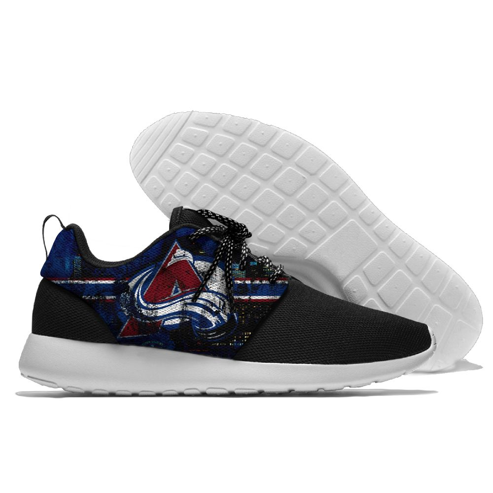 Men NHL Colorado Avalanche Roshe style Lightweight Running shoes 8