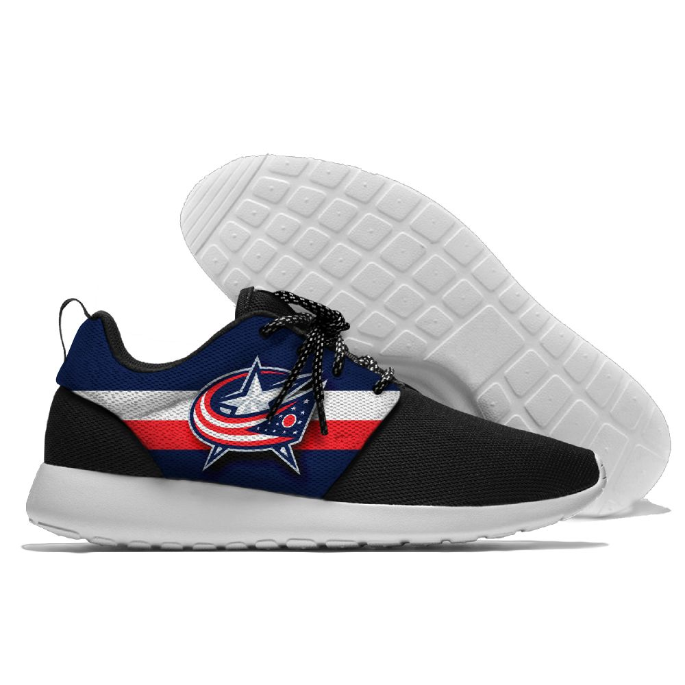 Men NHL Columbus Blue Jackets Roshe style Lightweight Running shoes 4