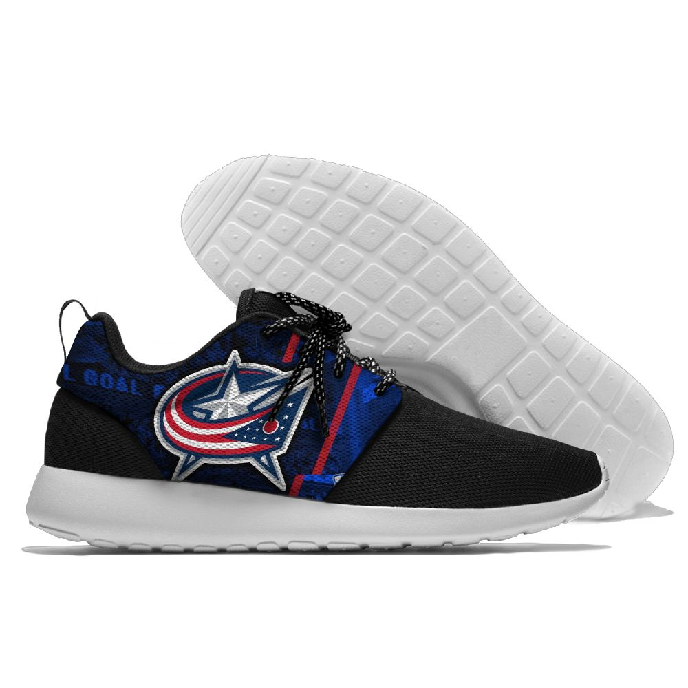 Men NHL Columbus Blue Jackets Roshe style Lightweight Running shoes 6