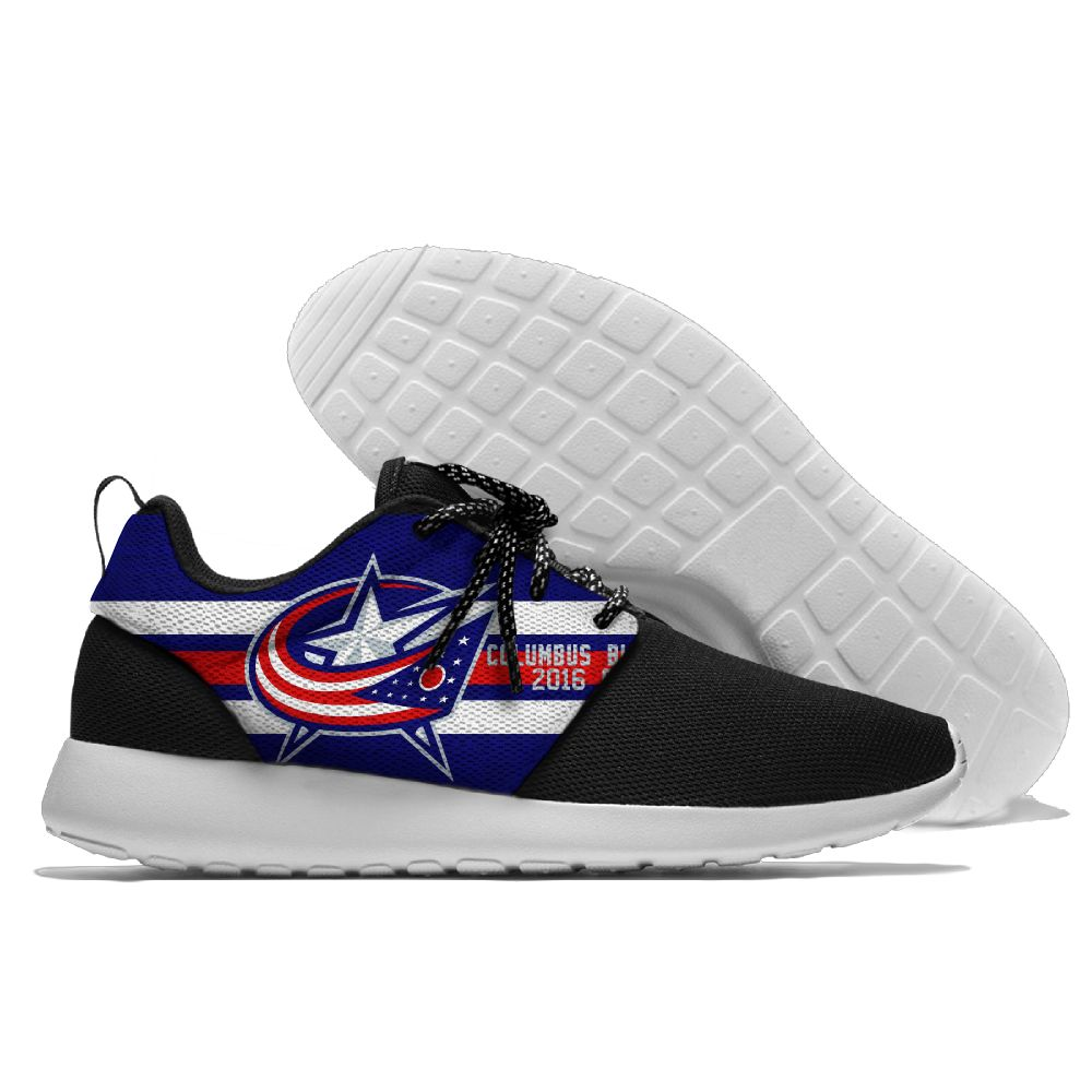 Men NHL Columbus Blue Jackets Roshe style Lightweight Running shoes 7