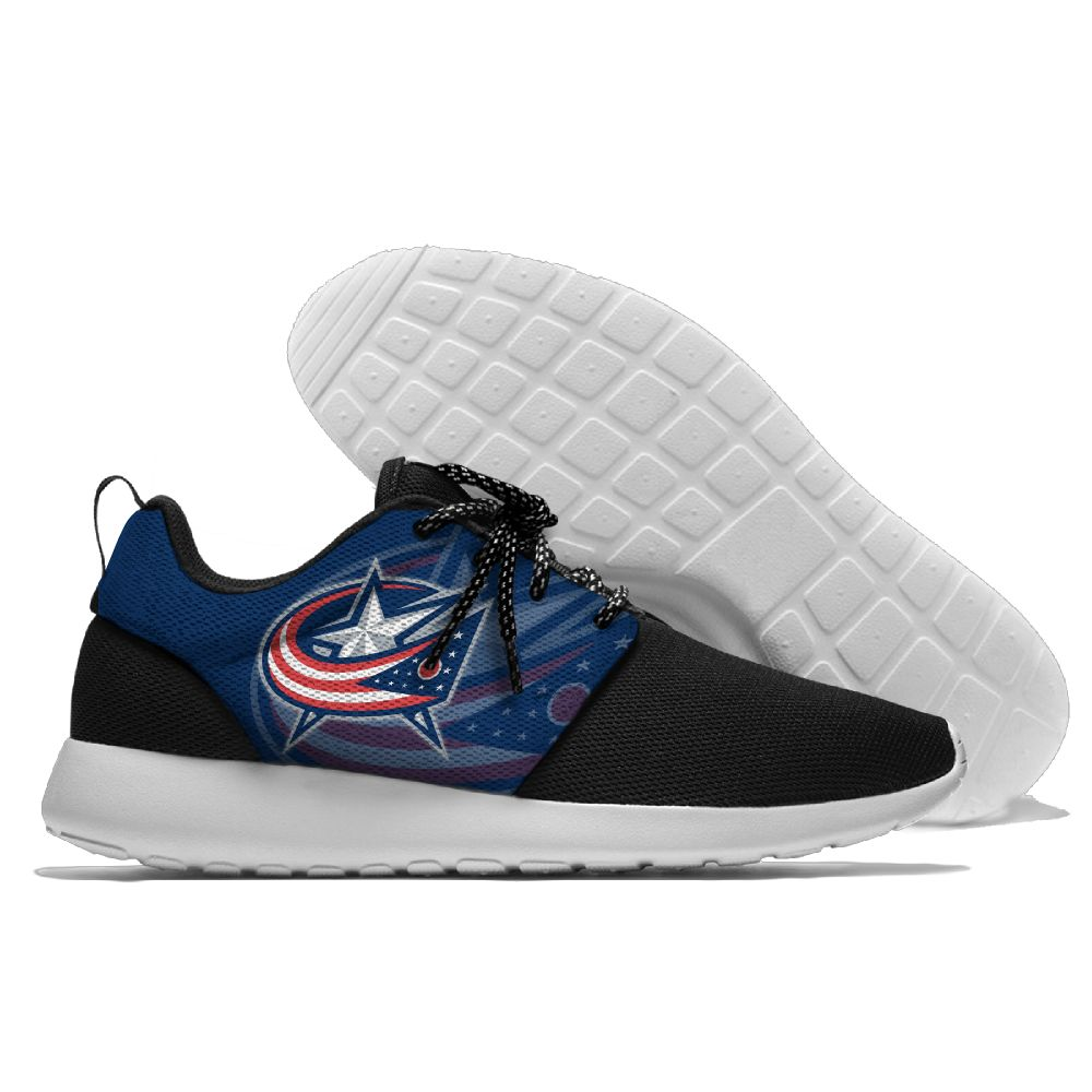 Men NHL Columbus Blue Jackets Roshe style Lightweight Running shoes 8