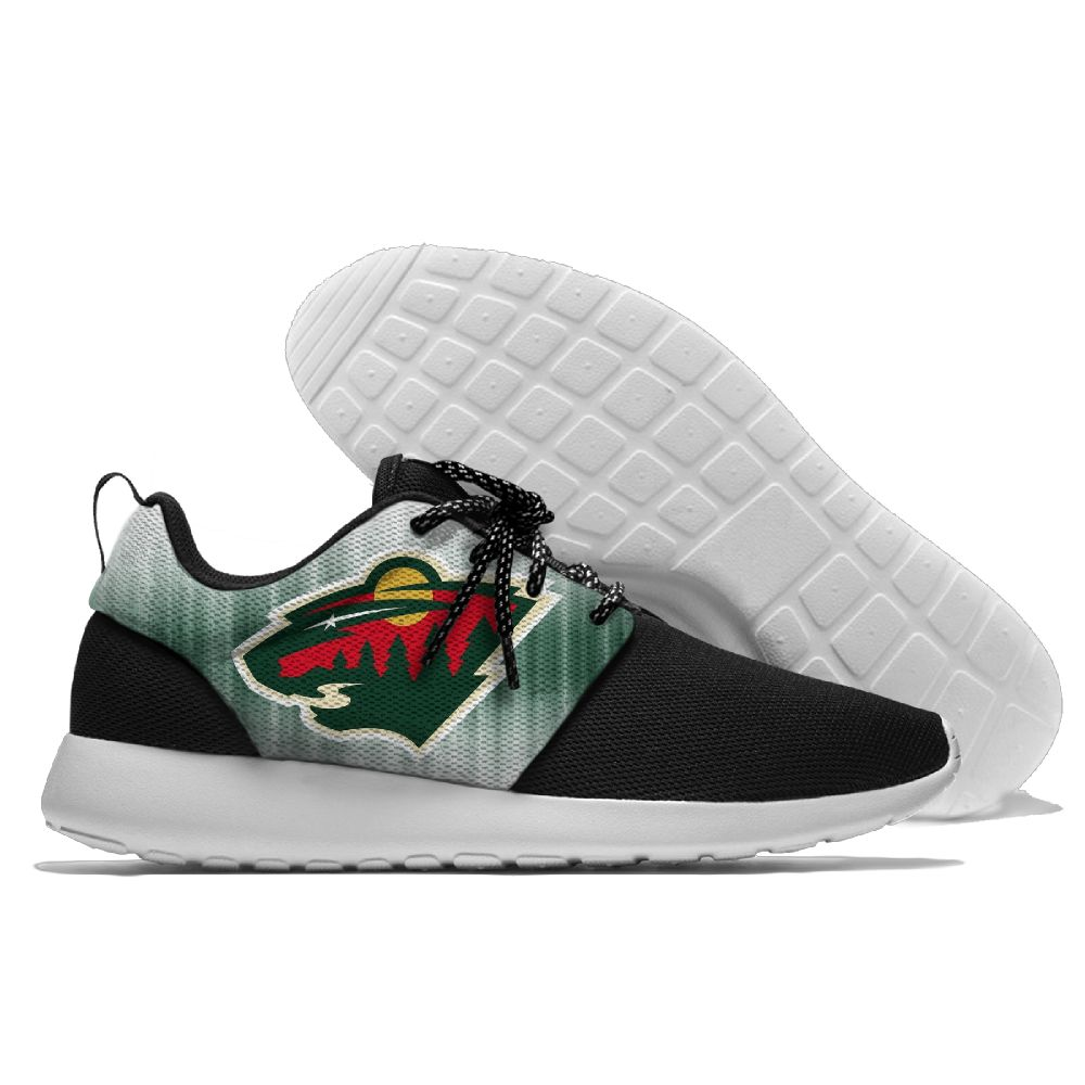 Men NHL Minnesota Wild Roshe style Lightweight Running shoes 1