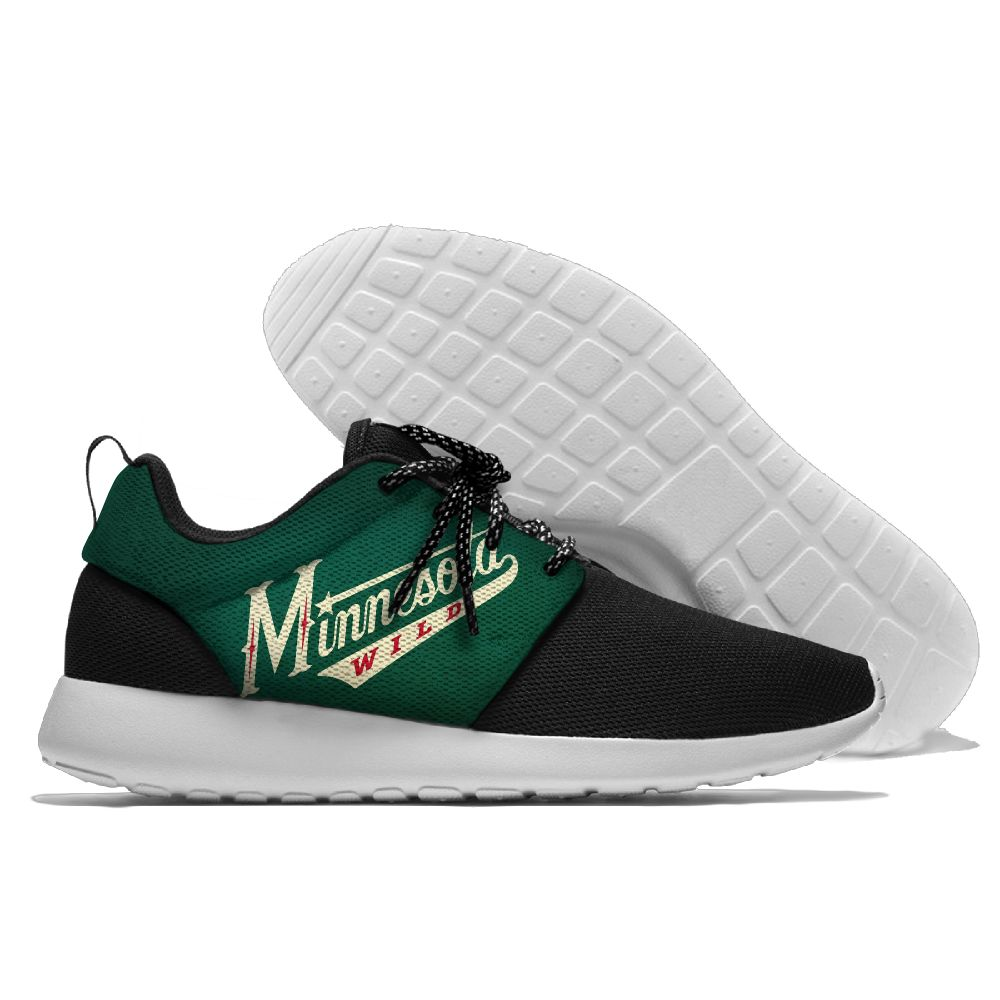Men NHL Minnesota Wild Roshe style Lightweight Running shoes 12