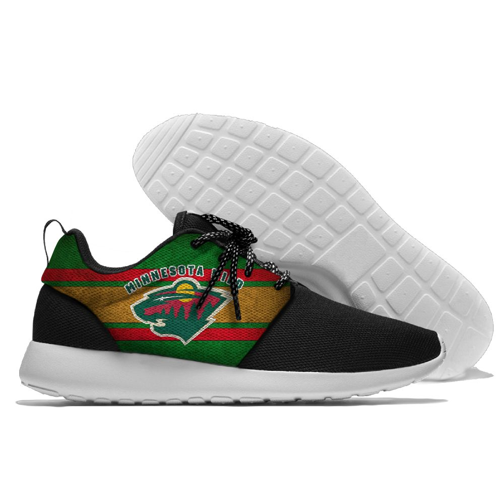 Men NHL Minnesota Wild Roshe style Lightweight Running shoes 2