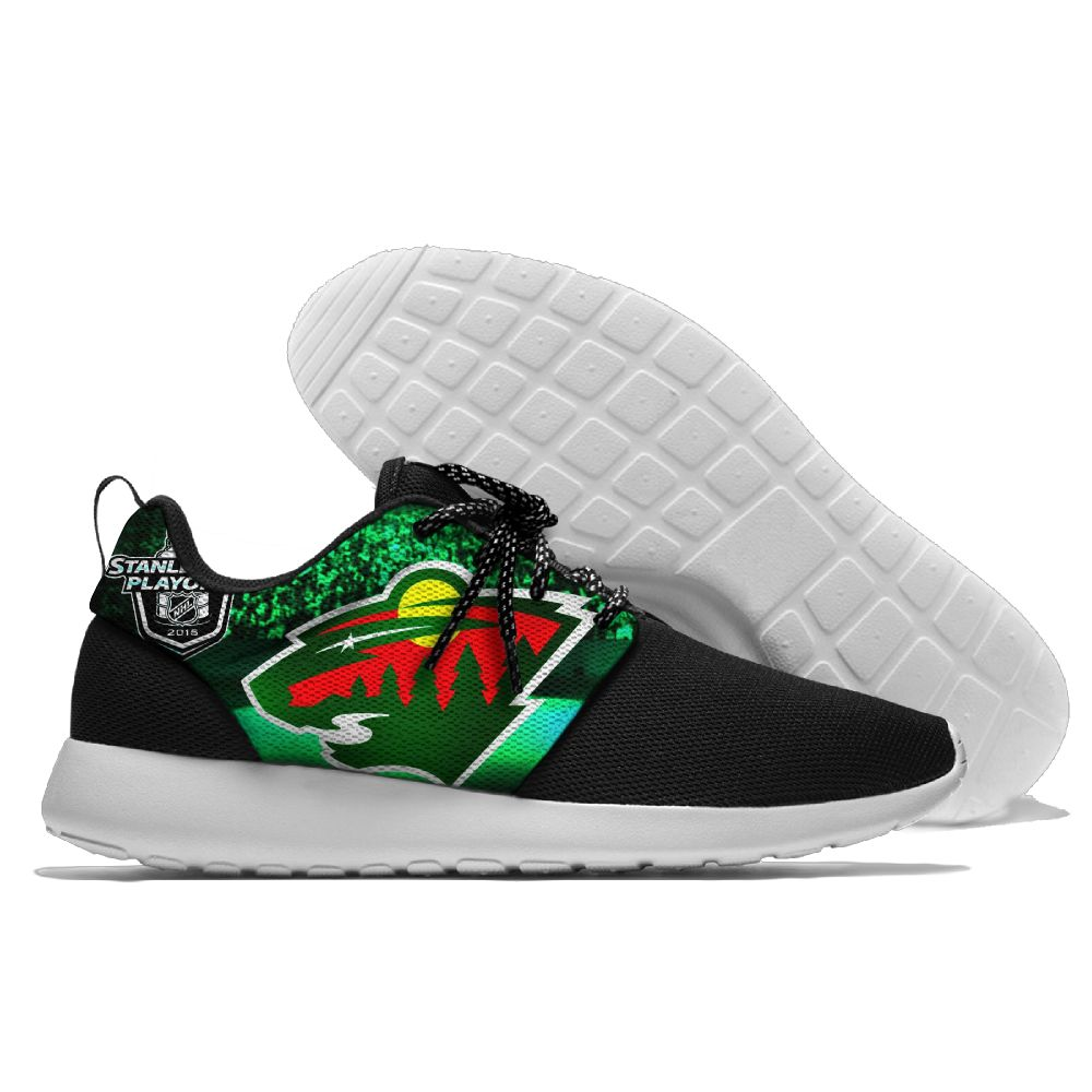 Men NHL Minnesota Wild Roshe style Lightweight Running shoes 3
