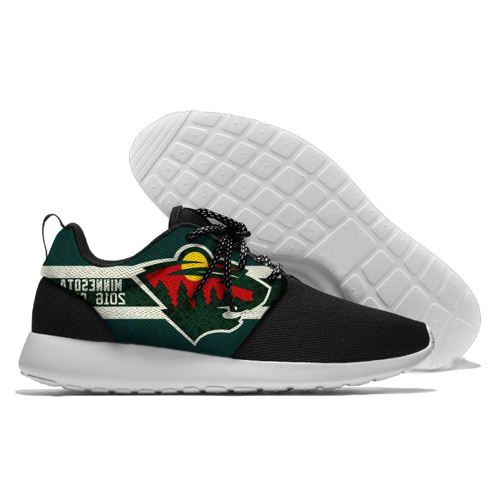 Men NHL Minnesota Wild Roshe style Lightweight Running shoes 4