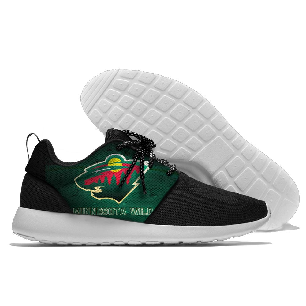 Men NHL Minnesota Wild Roshe style Lightweight Running shoes 8