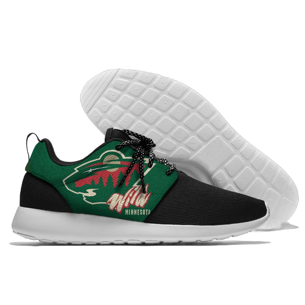 Men NHL Minnesota Wild Roshe style Lightweight Running shoes 9