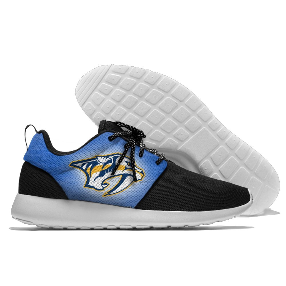 Men NHL Nashville Predators Roshe style Lightweight Running shoes 13