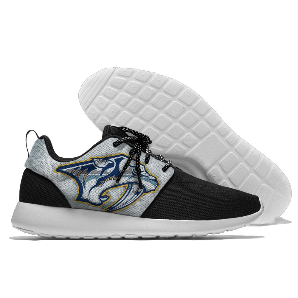 Men NHL Nashville Predators Roshe style Lightweight Running shoes 2