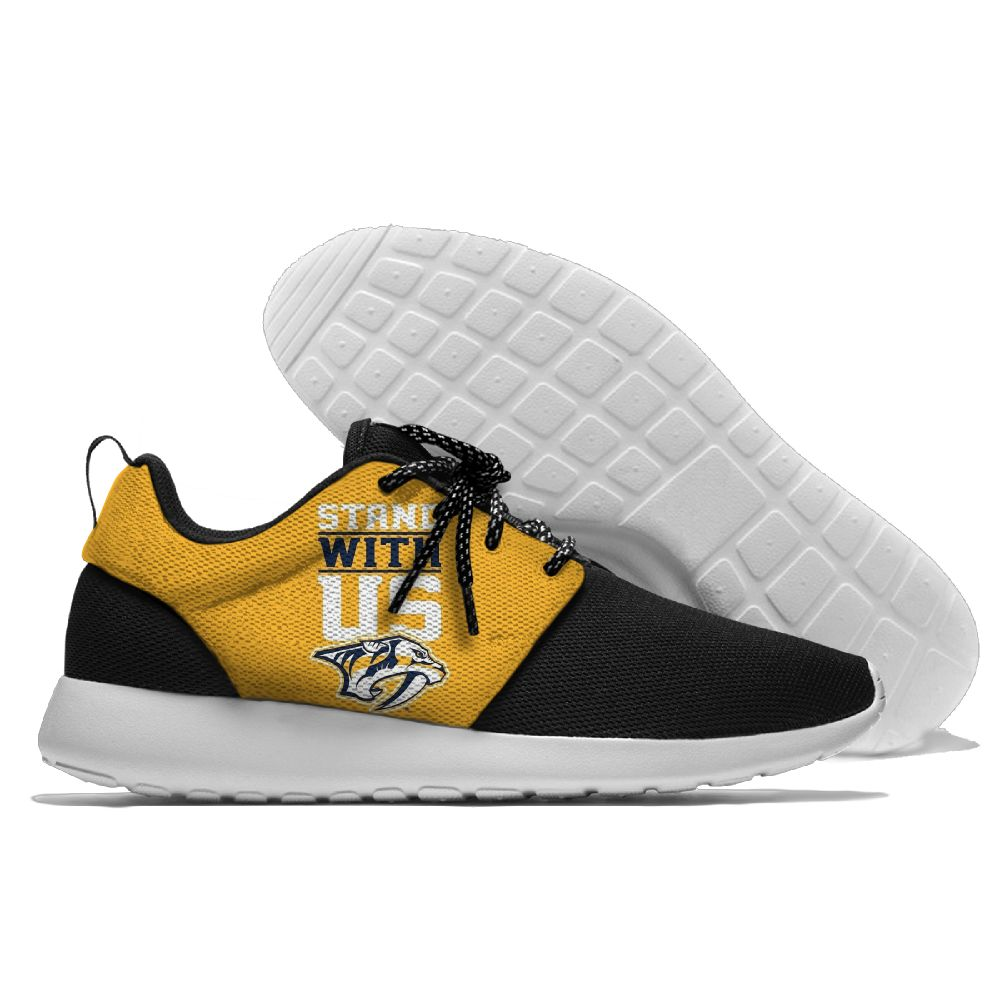 Men NHL Nashville Predators Roshe style Lightweight Running shoes 3
