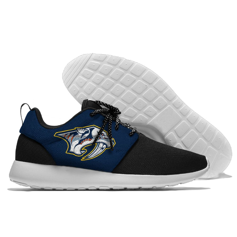 Men NHL Nashville Predators Roshe style Lightweight Running shoes 4