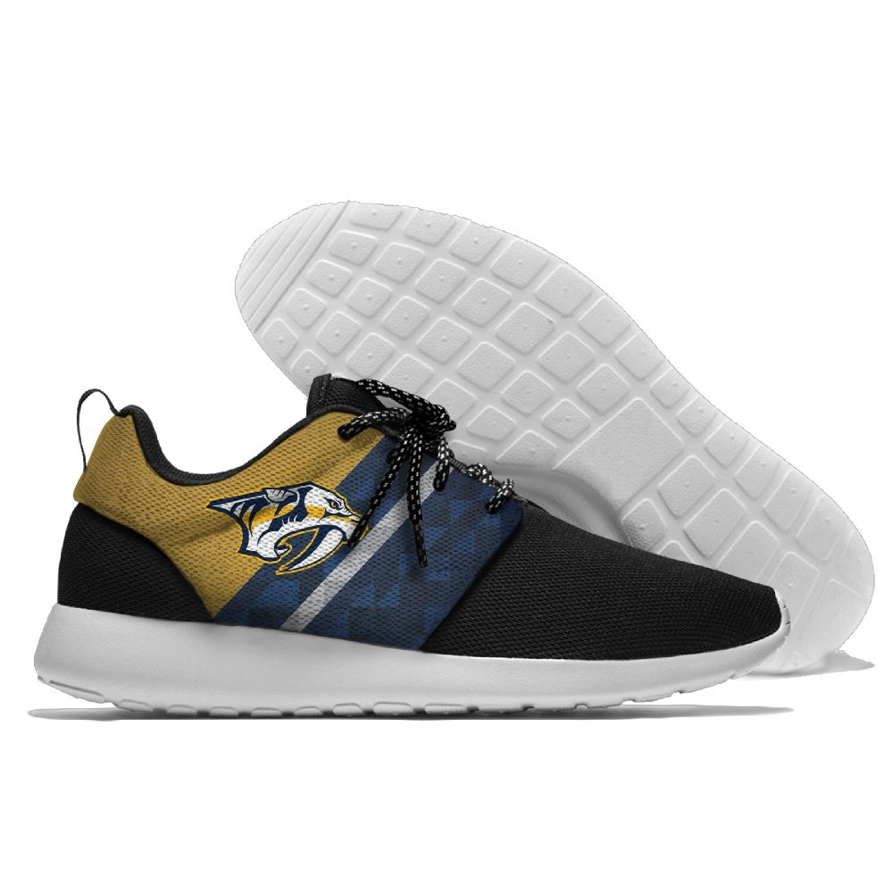 Men NHL Nashville Predators Roshe style Lightweight Running shoes 7